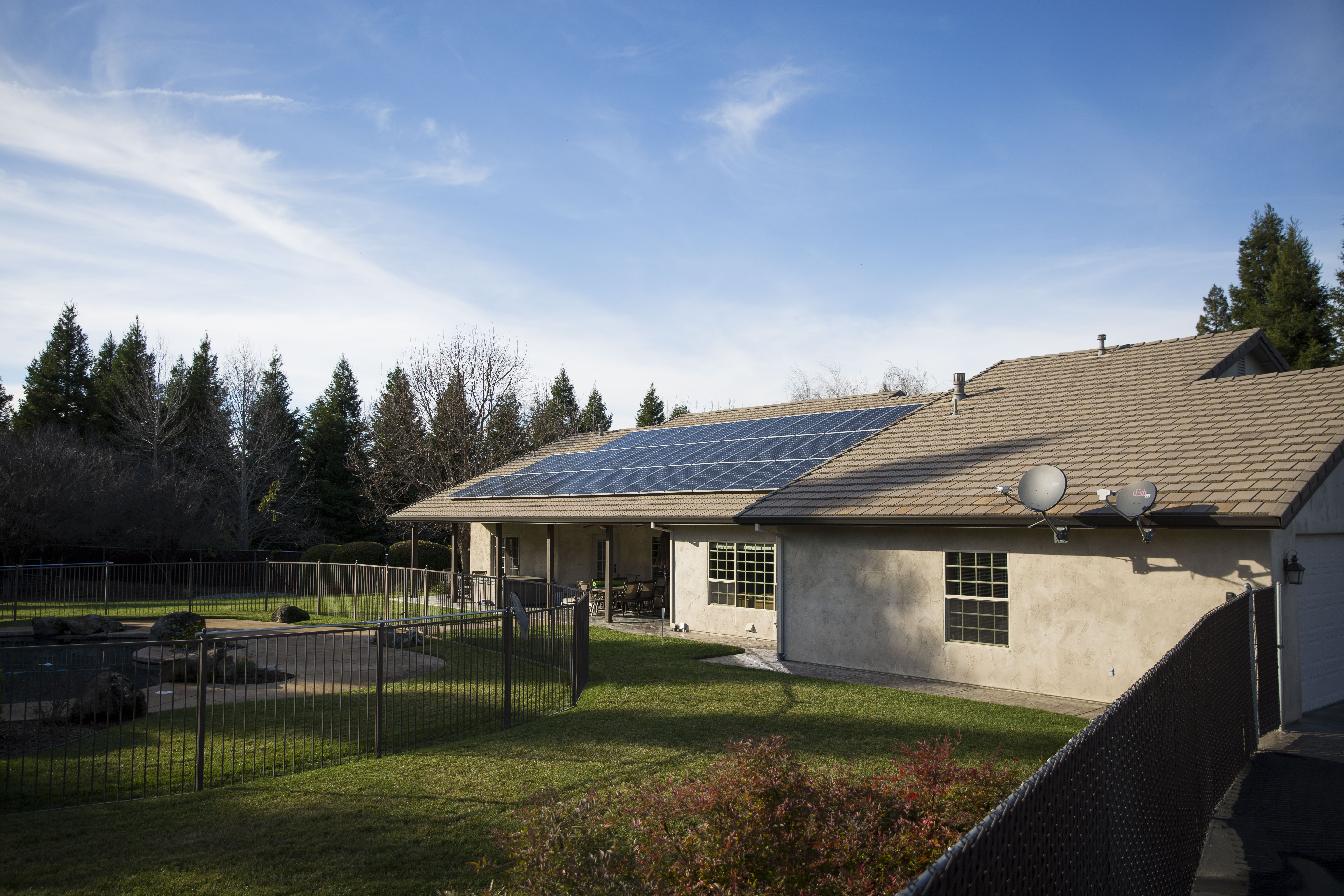redding solar energy residential home